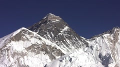 View of Everest. Himalayas. Nepal. Stock Footage