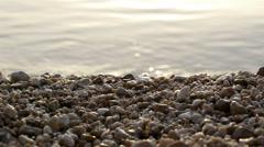 Pebble beach and sea - stock footage