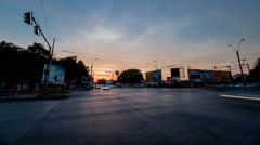 Dramatic urban holy grail sunset timelapse Stock Footage