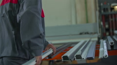 Putting plastic element above the metal element Stock Footage