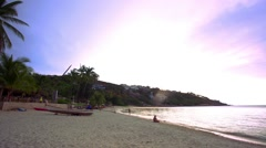 Koh Samui. Thailand. 20 july 2014.Time lapse of beach and tropical sea. HD. Stock Footage