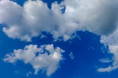 sky and clouds at the end of the rainy season. - stock photo