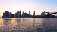 0563 UHD Manhattan Financial District Skyline NYC Stock Footage