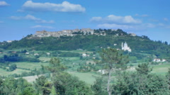 Montepulciano Skyline Tuscany Italy - 25FPS PAL Stock Footage