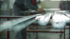Rubbing narrow and long elements Stock Footage