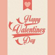 Valentines day over pink background vector illustration Stock Illustration