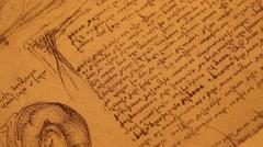 Leonardo Da Vinci's Anatomy Drawings Stock Footage