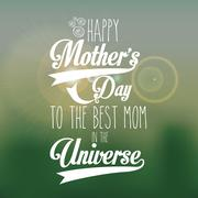 Happy Mothers Day Design - stock illustration
