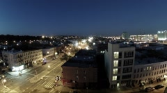 Top view of street in Brooklyn, gradually becoming lighter Stock Footage