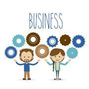Business design over white background vector illustration Stock Illustration