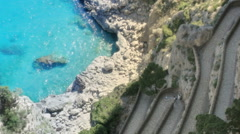 Via Krupp in Shade Monte Castiglione Capri Italy - 25FPS PAL Stock Footage