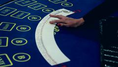 A deck of cards in a casino - stock footage