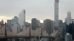 Queensboro Bridge and cityscape at day. Time lapse. Stock Footage