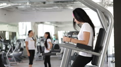 Exercises in the gym, fitness center Stock Footage