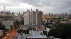 Cityscape with skyscrapers and Queensboro Bridge Stock Footage