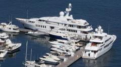 4K Luxury Ocean Motor Yacht Stock Footage