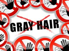 no gray hair - stock illustration