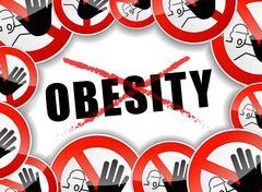 no obesity - stock illustration