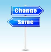 change and same concept - stock illustration