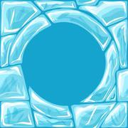 Round frame on Ice seamless pattern Stock Illustration