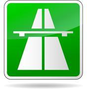 Green freeway sign Stock Illustration