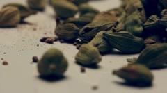Rotating cardamom seeds Stock Footage
