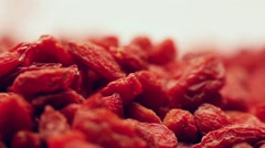 Rotating goji berries Stock Footage
