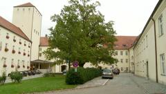 Old German Monestary Outside Munich Stock Footage