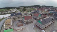 Stock Video Footage of Aerial Footage of a Housing Development Under Construction