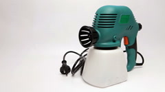 Manual spray gun for pulverization of color Stock Footage