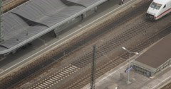 UltraHD 4K Intercity Express ICE Train Arriving Arrival Railway Station Cologne Stock Footage