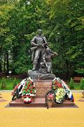 Memorial to warrior scout. kaliningrad, russia Stock Photos