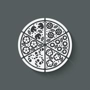 Pizza design element Stock Illustration