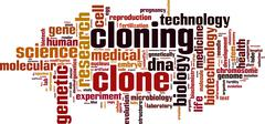 cloning word cloud - stock illustration