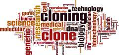 Cloning word cloud Stock Illustration