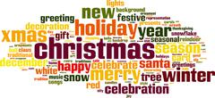 Stock Illustration of christmas word cloud