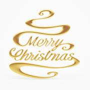 Stock Illustration of merry christmas with clipping path