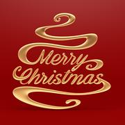 merry christmas with clipping path - stock illustration
