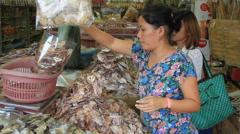 Philippine fish vendor shop Stock Footage