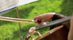 Musician Playing the Violoncello Stock Footage