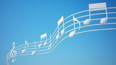 Music notes. Piirros