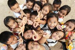 Kids group in laos Stock Photos