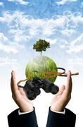 Stock Photo of future vision for save the earth concept
