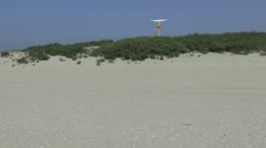Radar post in the dunes of Hook of Holland Stock Footage