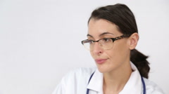 Doctor patient e-meeting Stock Footage