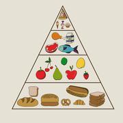 Stock Illustration of nutrition design over beige  background vector illustration