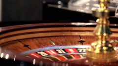 Roulette in casino Stock Footage