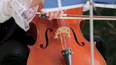 Woman Playing th Violoncello Stock Footage