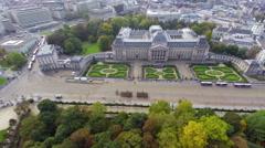 Establishing shot Royal Palace in Brussels Belgium ceremony Stock Footage