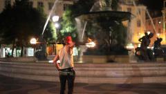 Fire Dancer, Slow Dance Stock Footage